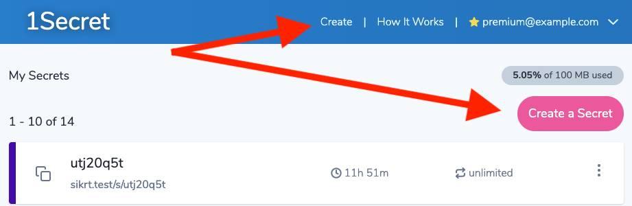 How 1Secret works - Step 2